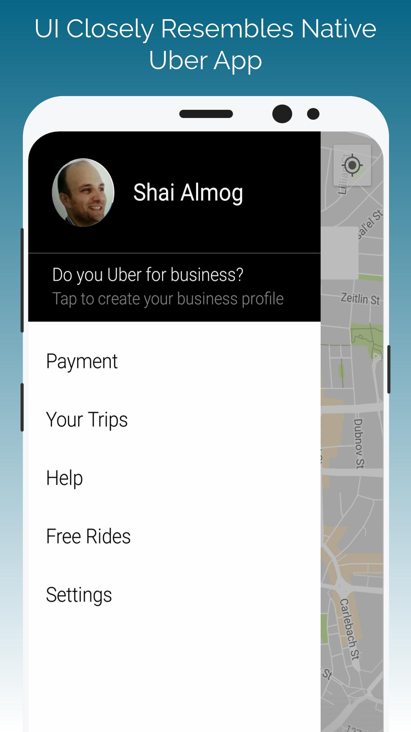 Uber Clone - Codename One