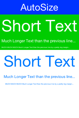 Automatically sizes the fonts of the buttons/labels based on text and available space