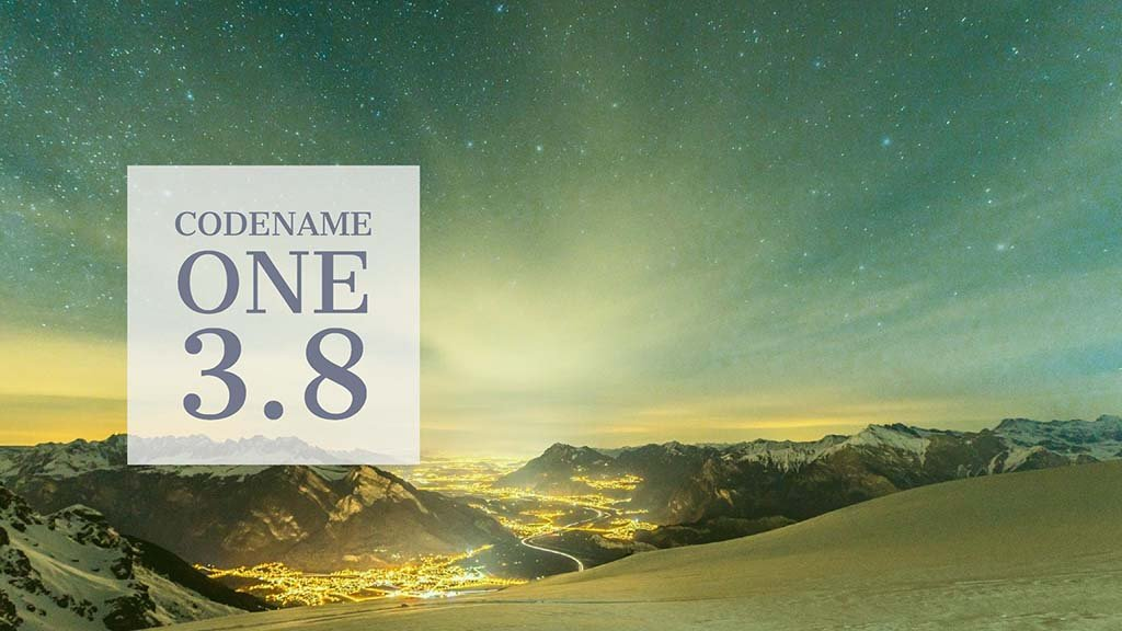 Codename One 3.8 is Live
