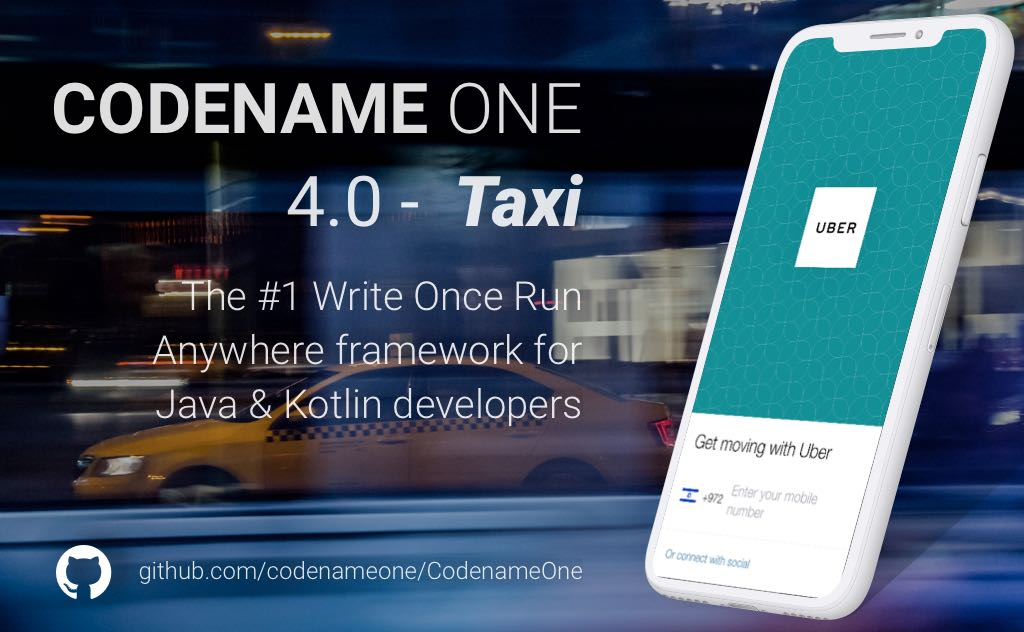 "Codename One 4.0 ""Taxi"" is now Live"