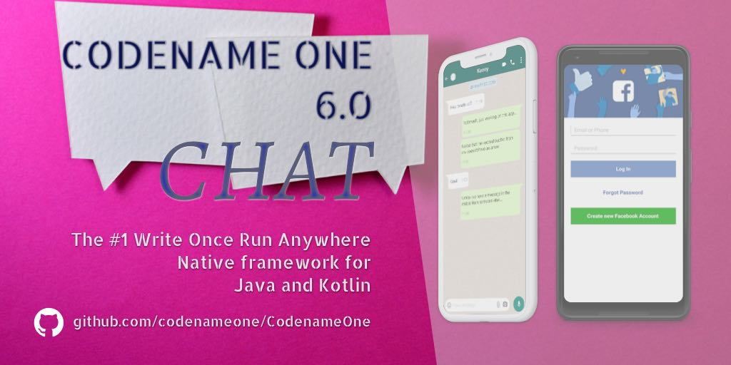 "Codename One 6.0 ""Chat"" is now Live"
