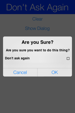 Dialog with check box