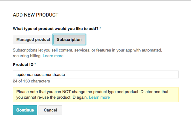 Add new product dialog