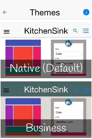 KitchenSink II - Codename One