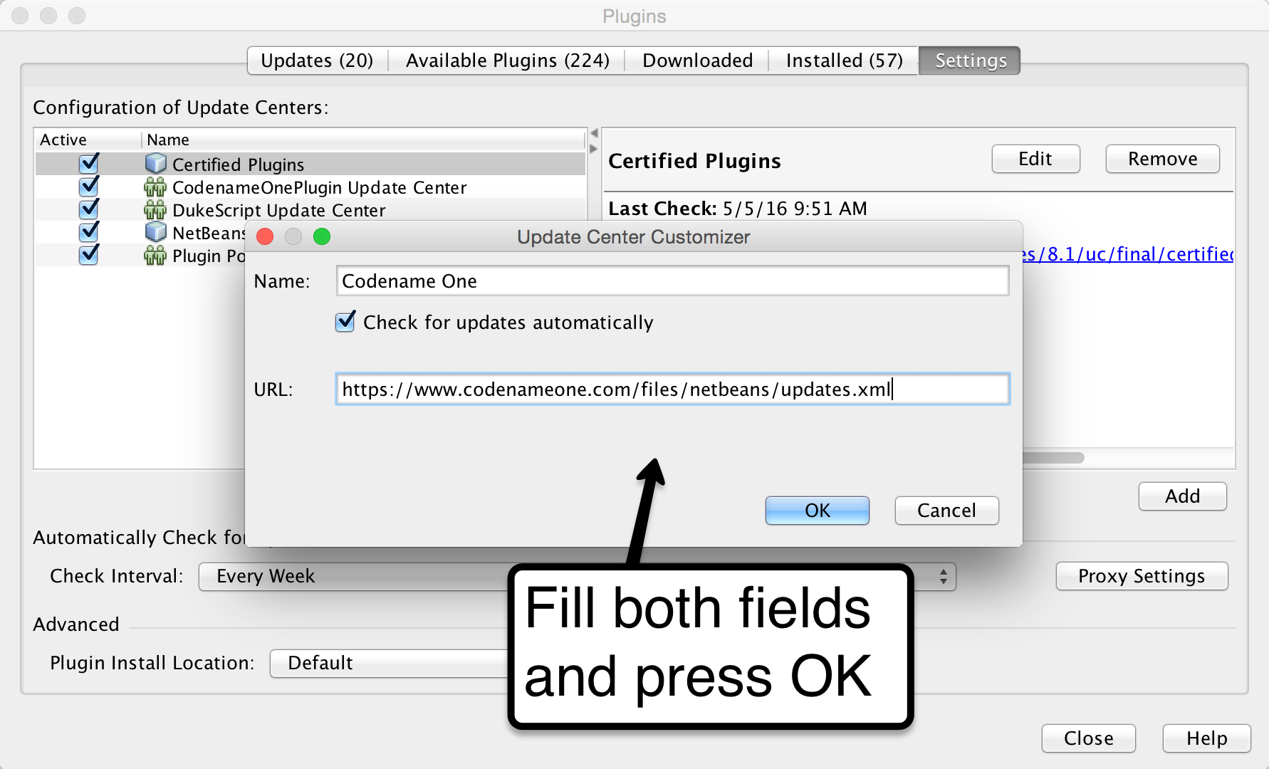 NetBeans Plugin Update Center - Codename One