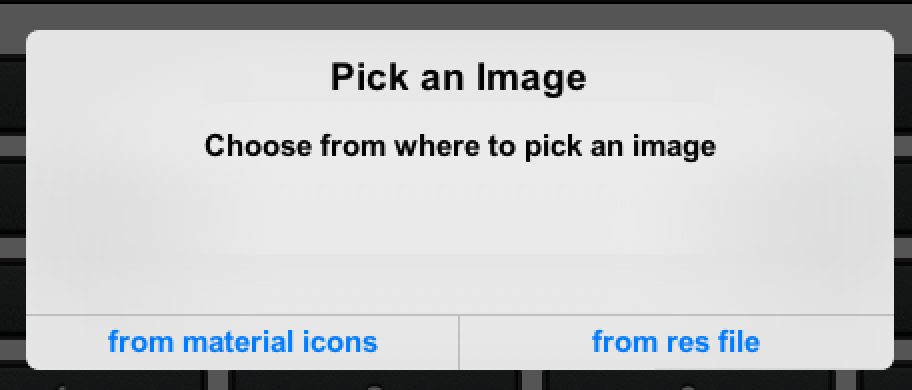 Pick material icon or image from the resource file