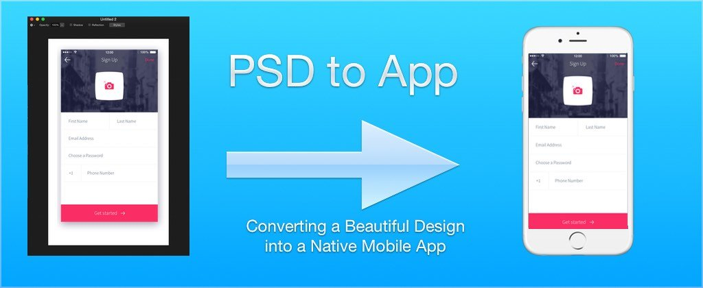 PSD to App: Converting a Beautiful Design into a Native Mobile App