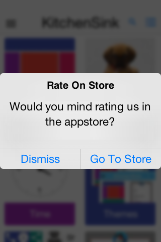 If the rating is 4 or higher it prompts for store rating