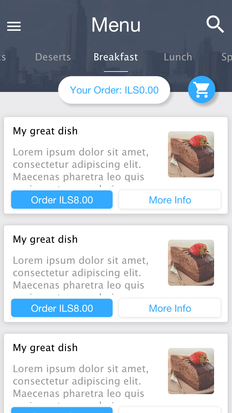 Restaurant App Builder - Codename One