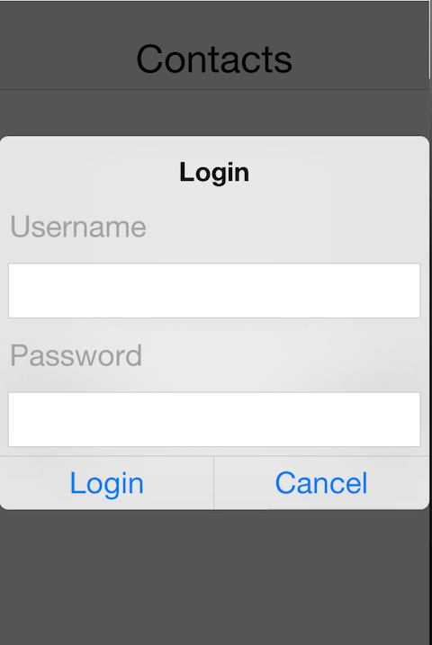 Codename One login