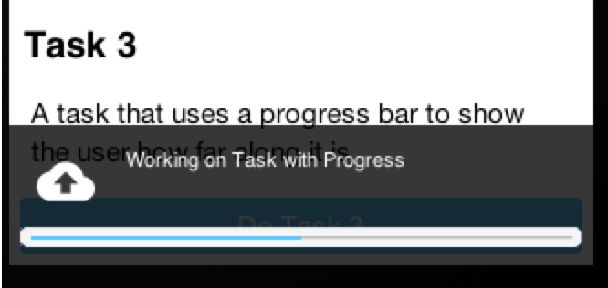 ToastBar & Gaussian Blur