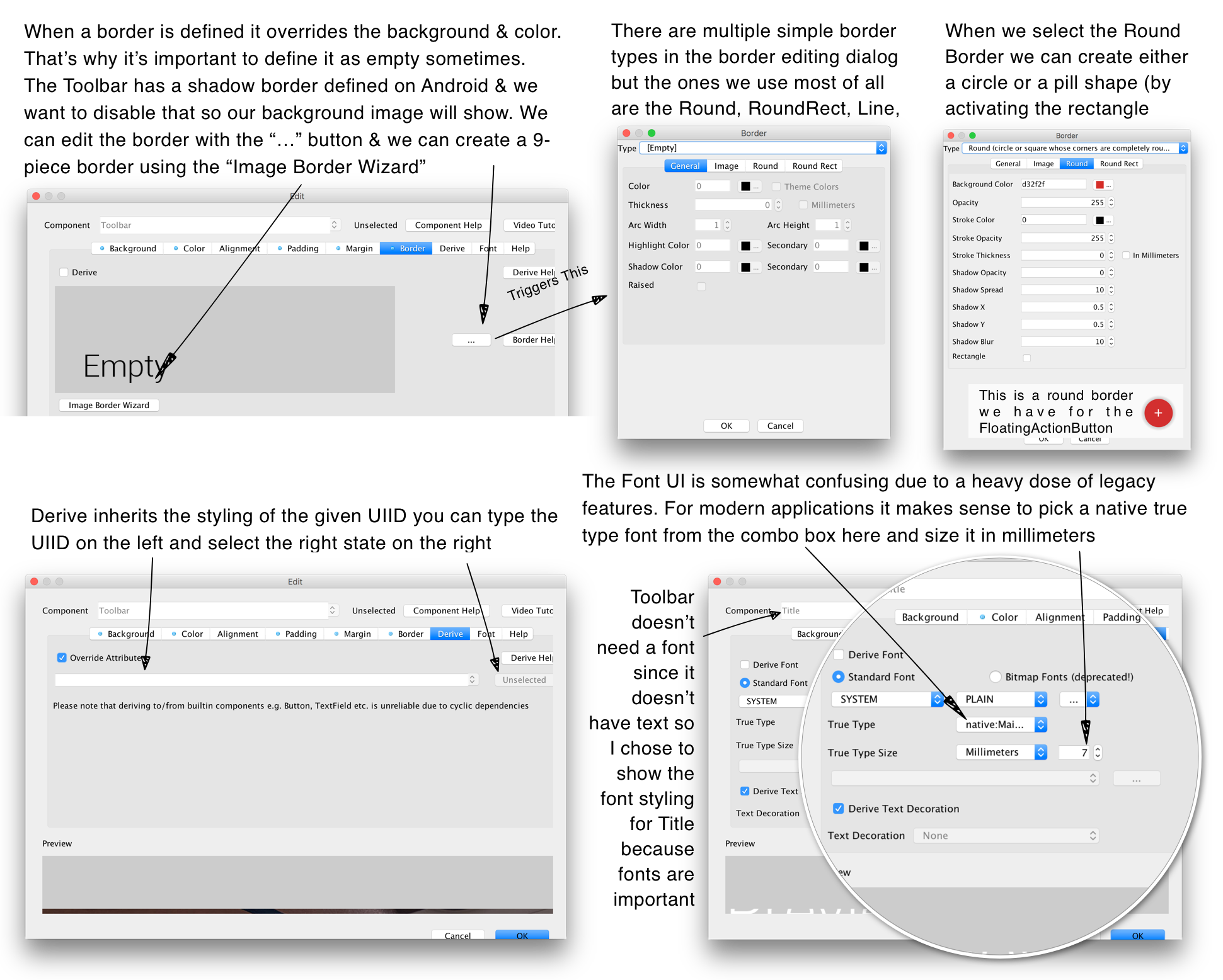 Basics: Themes, Styles, Components and Layouts - Codename One