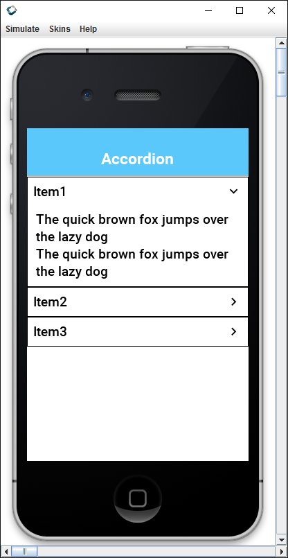 The Accordion Component