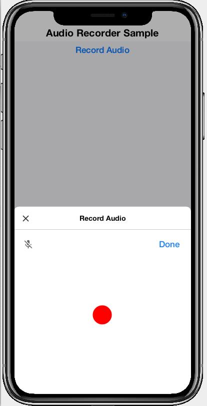 AudioRecorderComponent while recording
