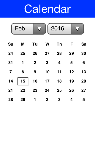 Default calendar look