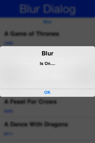 Gaussian Blur behind the Dialog