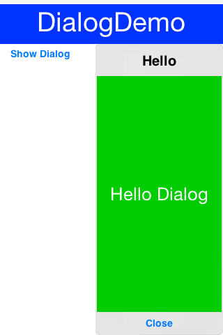 InteractionDialog Sample