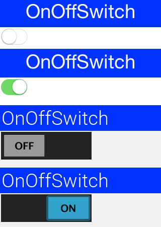 The looks of the on-off switch