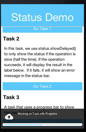 Status With Progress Bar