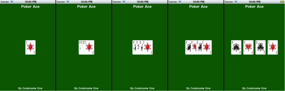Mobile Casual Game Programming (card game) using Java - Codename One