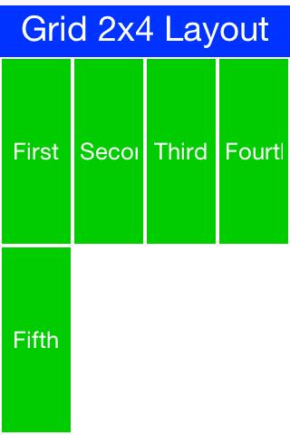 Grid Layout 2x4