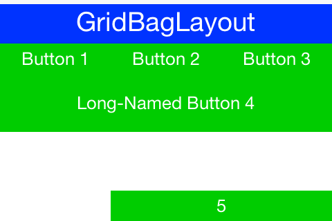 GridbagLayout sample from the Java tutorial running on Codename One