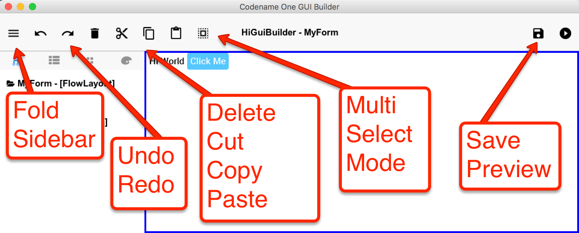 Using the new GUI Builder - Codename One