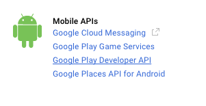 Google Play Developer API Link