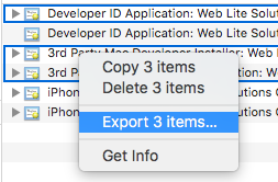 Working with Mac OS X desktop build and deploying to itunes