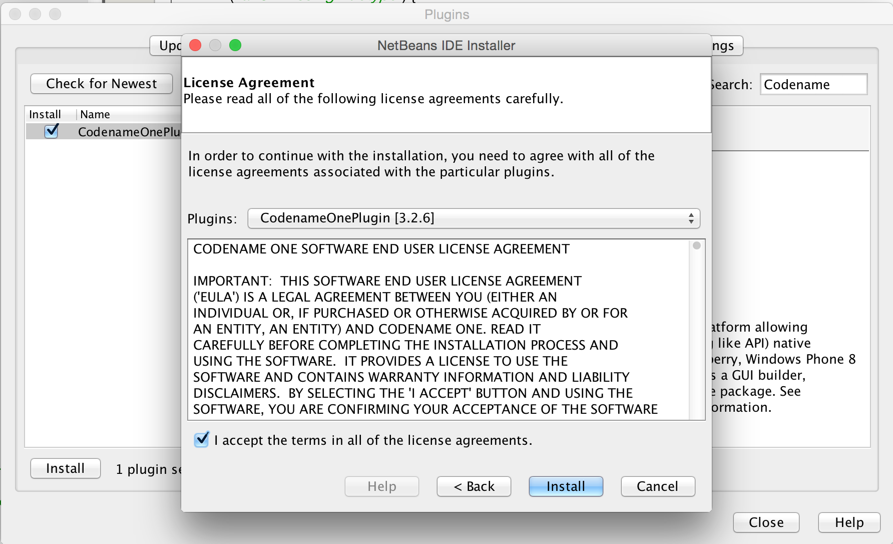 Netbeans Plugin Install Wizard step 2