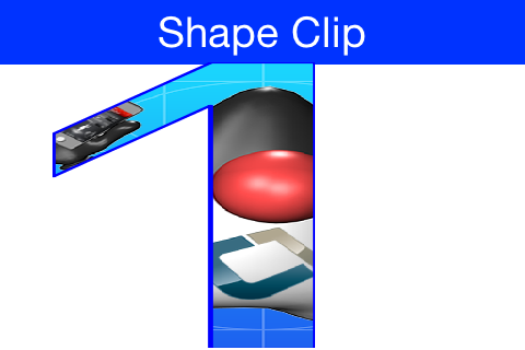 Shape Clipping used to clip the image of duke within the given shape