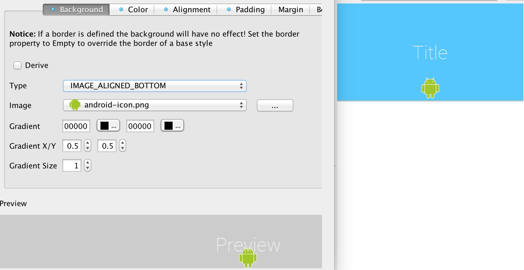 Theme Basics - Design Mobile app - Codename One