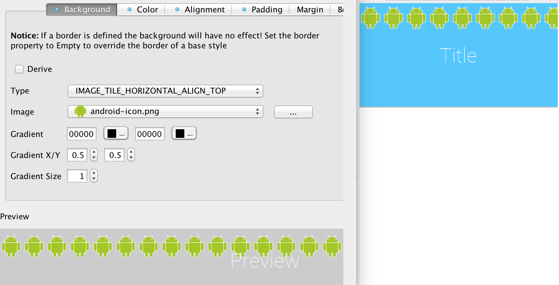 Background image align - Image_tile_horizontal_align_top Tiles The Image On The Top Of The Component