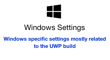 Windows Settings menu item
