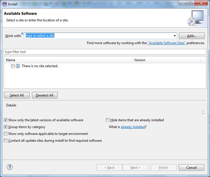 Eclipse Plugin Installation - Codename One