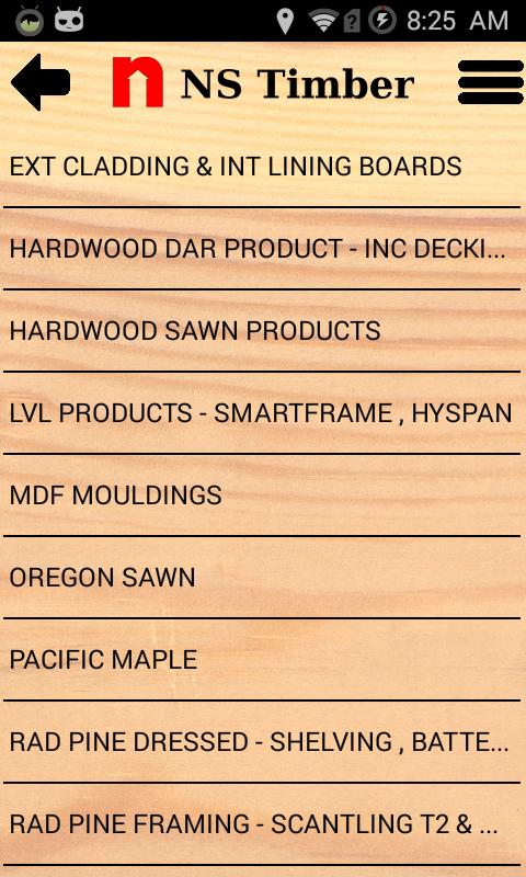 NS Timber Price List by Bryan Buchanan - Codename One