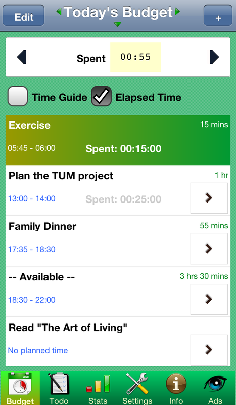 TUM Time Budget by TomDee TumDee Pty Ltd