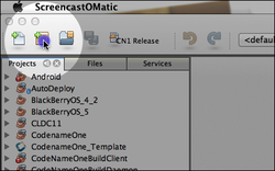 We start by creating a new project in NetBeans and selecting the Codename One project.