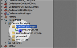 By default this project is a GUI builder project so we open the Codename One Designer with the content of this file.
