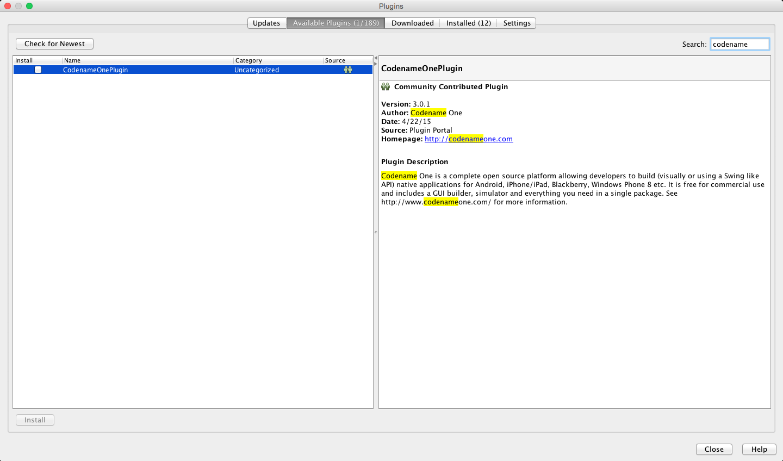 NetBeans Plugin Setup Instructions - Codename One