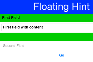FloatingHint Component