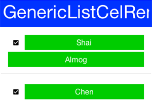 Sample of using the generic list cell renderer