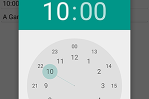 Android native time picker