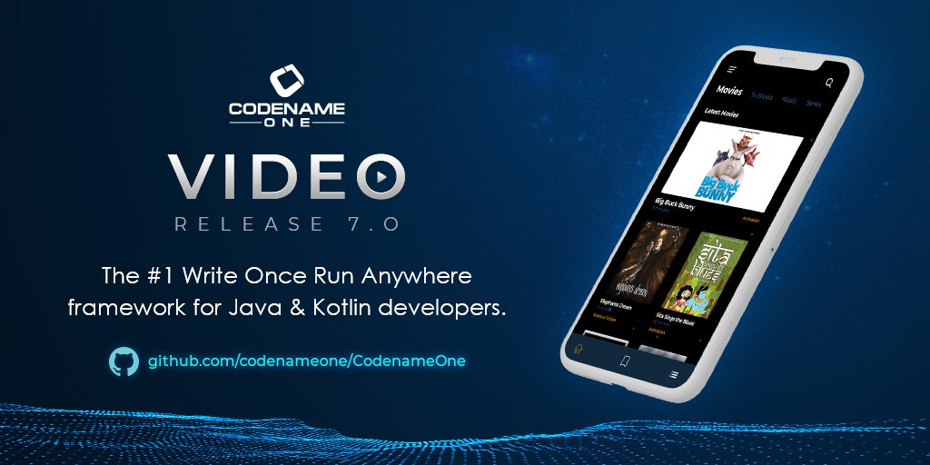 Codename One 7.0 - Video